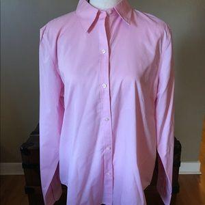 Chaps Classics No Iron Shirt pink size L